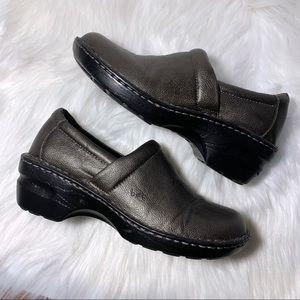 b.o.c. Metallic Grey Slip On Clogs